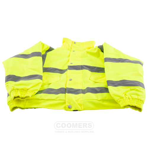 Hi Vis Yellow Bomber Jacket Extra Large Delivered To You
