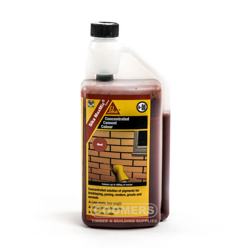 Sika Maxmix Cement Colour Red 1Ltr